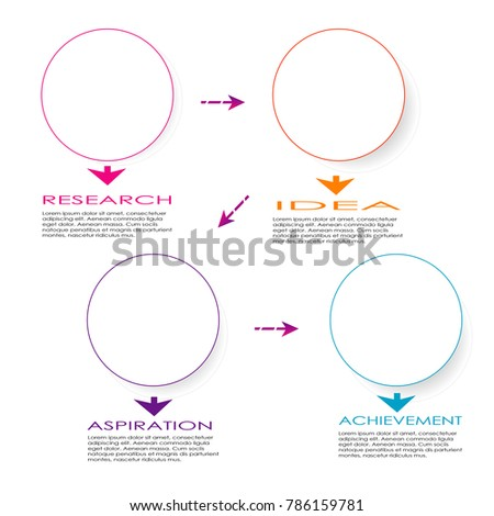 Abstract Infographic Data Chart Template Element Stock Vector