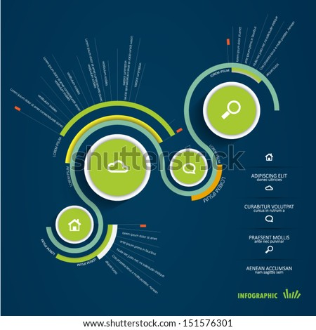 abstract infographic design - stock vector