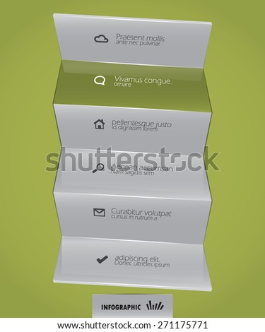 abstract infographic design template - stock vector