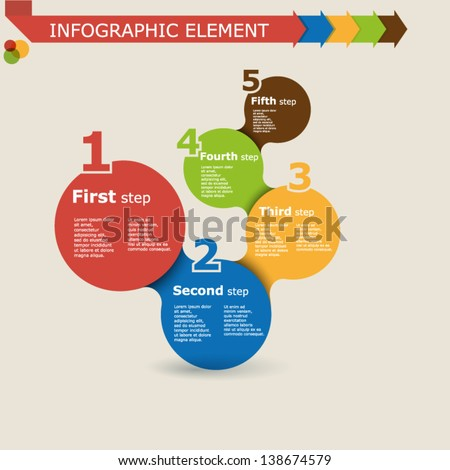 Abstract infographic elements with numbers - stock vector