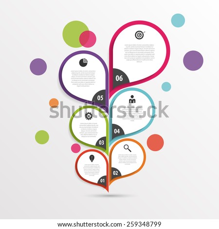Abstract infographic flower template. Colorful. Vector - stock vector