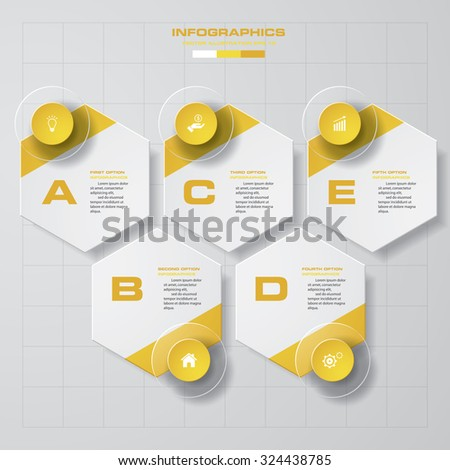 Abstract infographics business template. Vector Illustration. 6 steps order. - stock vector