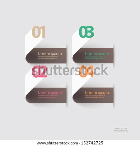 Abstract infographics colorful number options banner template.