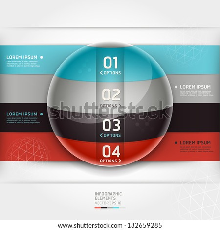 Abstract infographics element circle template. Vector illustration. can be used for workflow layout, diagram, number options, step up options, web design, banner. - stock vector