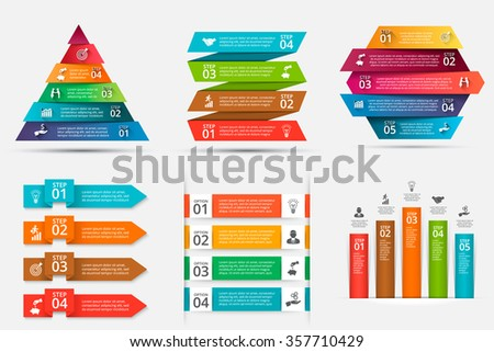 Abstract infographics number options template. Vector illustration. Can be used for workflow layout, diagram, business step options, banner, web design. - stock vector