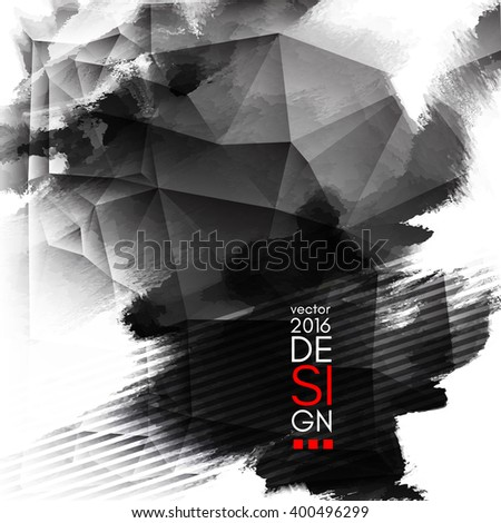Abstract Ink Decoration. Splatter Border Design. Ink Splatter Decoration. Abstract Ink Border. Splatter Decoration Design. Vector Illustration. - stock vector