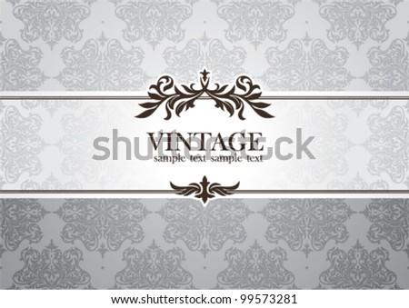 abstract invitation frame vector illustration - stock vector