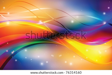Abstract iridescent background - stock vector