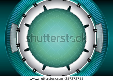 abstract iron technology background vector - stock vector