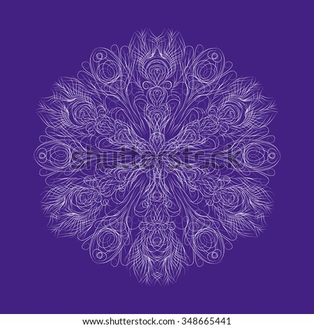 abstract isolate flower or snowflake - stock vector