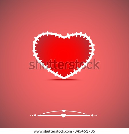 abstract isolate heart - stock vector