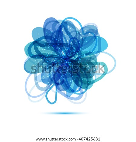 abstract isolated flower - stock vector