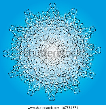 Abstract isolated vector flower or snowflake. illustration. - stock vector