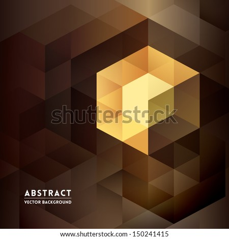 Abstract Isometric Shape Background for Business / Web Design / Print / Presentation - stock vector