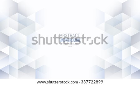 Abstract Isometric Shape Background for Business / Web Design / Print / Presentation, 16:9 aspect ratio - stock vector