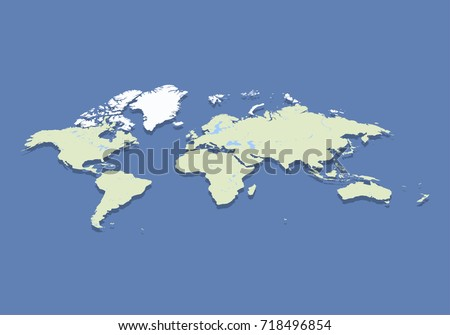 Abstract isometric world map flat vector stock vector 718496854 abstract isometric world map flat vector illustration eps 10 gumiabroncs Image collections