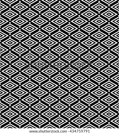 abstract japanese pattern background.geometric rhombus vector with monochrome.black and white ornament pattern