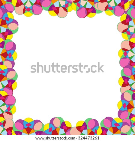 Abstract kaleidoscope frame background. Perfect design element for card