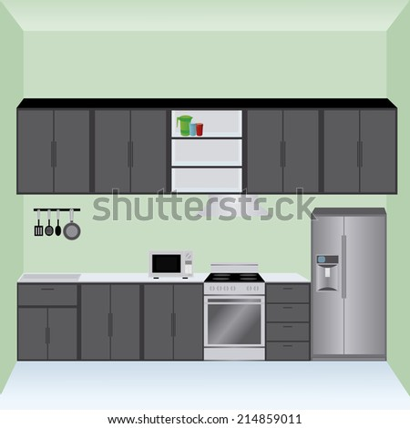 abstract kitchen background with some special objects