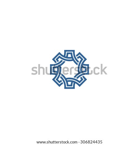 Abstract knotted design element - stock vector