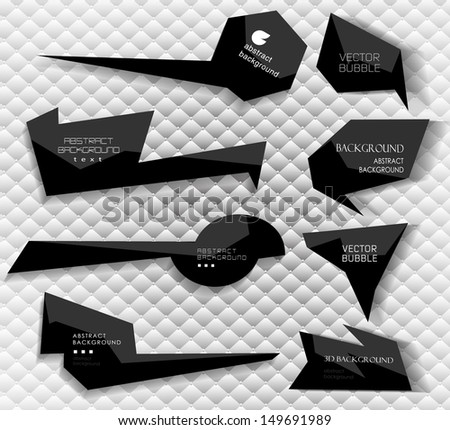 abstract Labels, bubbles, website header, banner vector collection  with abstract background/ vector set - stock vector