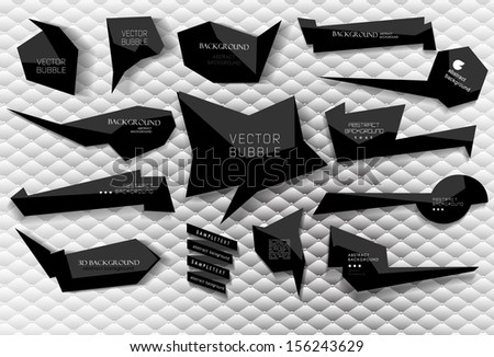 abstract Labels, bubbles, website header or banner// vector set with abstract background - stock vector