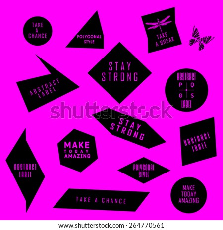 Abstract labels with Quote infographic. Typography for design.  - stock vector