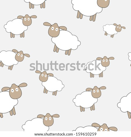 Abstract lamb seamless pattern background vector illustration - stock vector