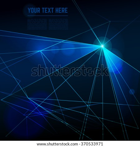 Abstract laser lights vector background. Ray effect, beam energy, technology neon futuristic for disco illustration - stock vector