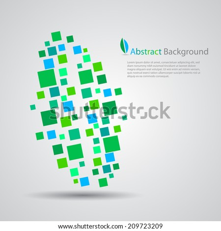 Abstract leaf background, EPS10 Vector.  - stock vector
