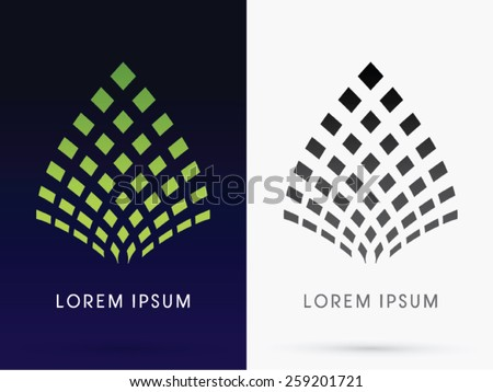 Abstract Leaf, Lotus, architecture, building ,logo, symbol, icon, graphic, vector. - stock vector