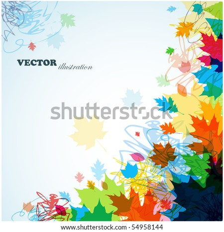 Abstract leaves background - stock vector