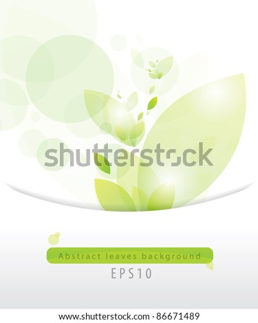Abstract leaves background eps 10 - stock vector