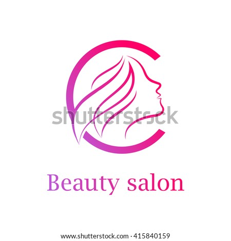 abstract letter c logobeauty salon logo design template - Nail Salon Logo Design Ideas