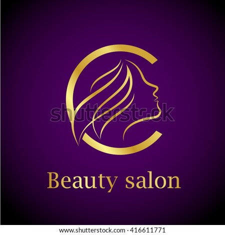Abstract Letter C LogoGold Beauty Salon Logo Design Template