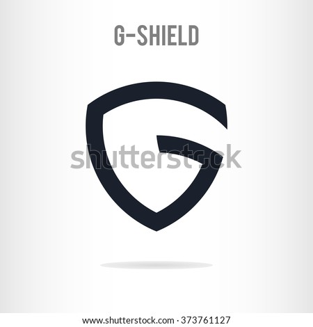 Abstract Letter G Logo Template. The Letter G In The Form Of Shield. G