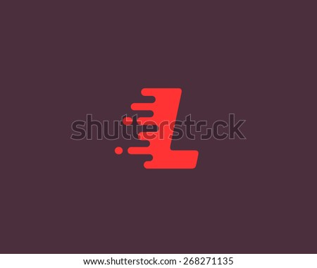 Abstract letter L logo design template.  Dynamic vector unusual font. Universal fast speed fire moving water quick energy drop icon. - stock vector