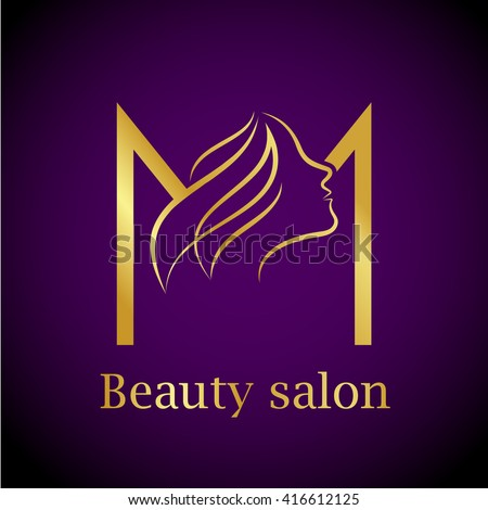 Gold m stock images royalty free images vectors for Abstract beauty salon