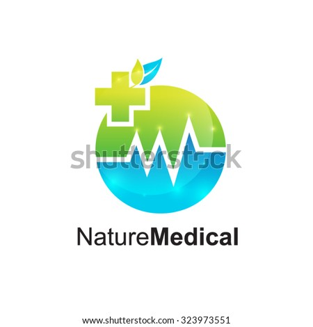 Abstract Letter H Logomedical Pharmacymedical Cross Stock Vector