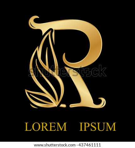 Abstract letter r logo design gold beauty stock vector 2018 abstract letter r logo designgold beauty industry and fashion logosmetics business thecheapjerseys Images