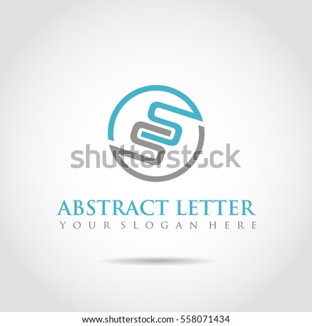 abstract letter ss logo template vector stock vector 558071434