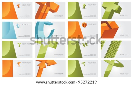 Abstract Letter T Logo Symbol Icon Business Card Set EPS 8 vector, grouped for easy editing. No open shapes or paths. - stock vector