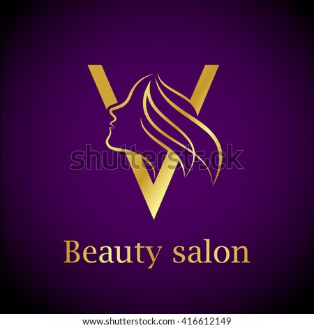 V shape stock images royalty free images vectors for Abstract beauty salon