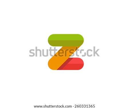 Abstract letter Z logo design template. Colorful creative sign. Vector icon. - stock vector