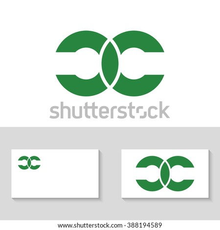 Abstract letters C and C logo template. Double letter C. Letter logo. Letters C and C icon. Business logo template. Vector. Minimal logo. Monogram. Isolated logo. United letters C - stock vector