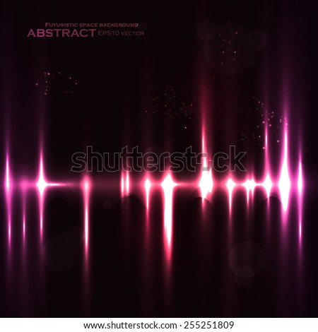 Abstract light background, futuristic vector illustration eps10 - stock vector