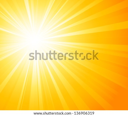 Abstract light background. Sun burst - stock vector