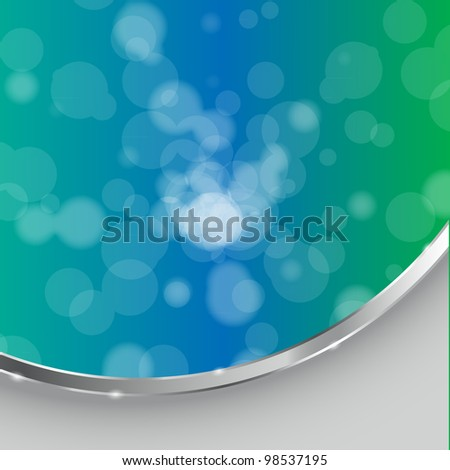abstract light background with frame  - Vector illustration - stock vector