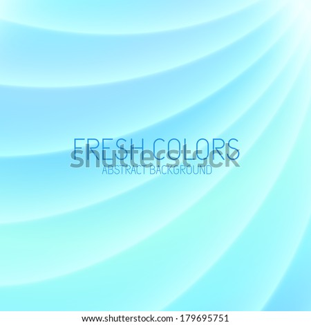 Abstract light blue background with waves. Vector illustration