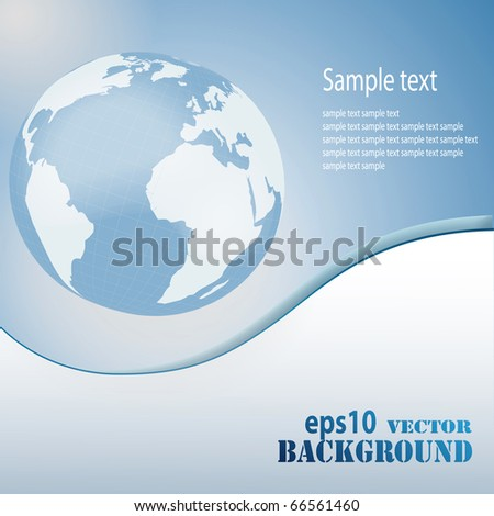 Abstract light blue business background. Vector eps10 illustration - stock vector